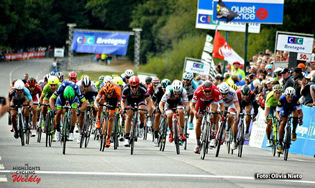 Plouay - France - wielrennen - cycling - radsport - cyclisme - Alexander Kristoff (Norway / Team Katusha) - John Degenkolb (Germany / Team Giant - Alpecin) pictured during the 50th Bretagne Classic - Ouest-France 2016 in Plouay, France - photo Olivia Nieto/Cor Vos © 2016