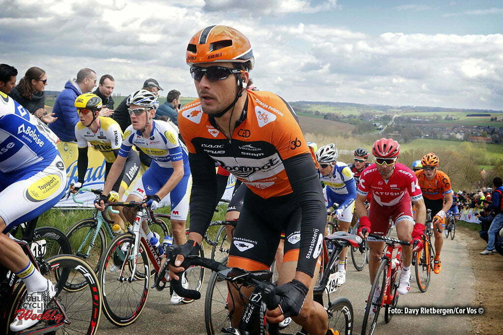 Valkenburg - Netherlands - wielrennen - cycling - radsport - cyclisme - Johnny Hoogerland (Roompot - Oranje Peloton) pictured during UCI World Tour race the Amstel Gold Race 2016 from Maastricht to Valkenburg, the Netherlands - photo Davy Rietbergen/Cor Vos © 2016