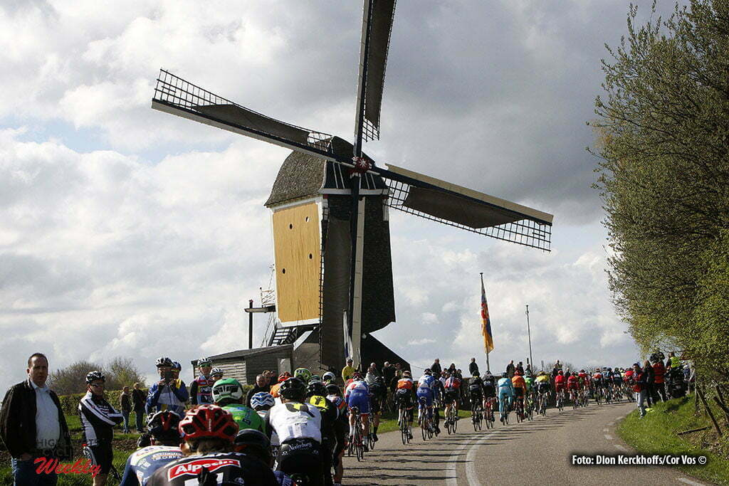 Valkenburg - Netherlands - wielrennen - cycling - radsport - cyclisme - illustration - sfeer - illustratie the Mill at the Adsteeg climb pictured during UCI World Tour race the Amstel Gold Race 2016 from Maastricht to Valkenburg, the Netherlands - photo Dion Kerckhoffs/Cor Vos © 2016