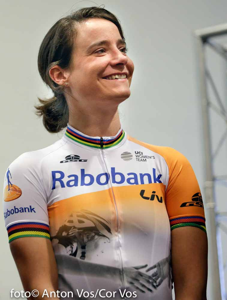 Papendal - Netherlands - wielrennen - cycling - radsport - cyclisme - Marianne Vos of Rabobank Liv Women Cycling Team pictured during team presentation Rabobank LIV women team in Papendal - photo Anton Vos/Cor Vos © 2016