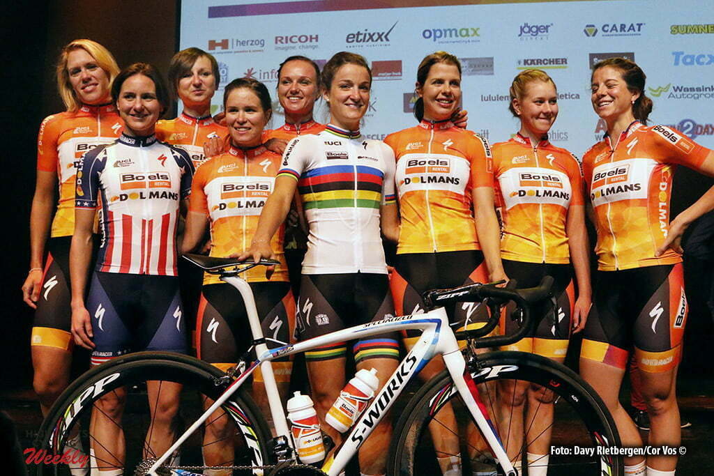 Kaatsheuvel - De Efteling - Netherlands - wielrennen - cycling - radsport - cyclisme - Boels Dolmans Cycling Team pictured during team presentation Boels - Dolmans women's team - photo Davy Rietbergen/Cor Vos © 2016
