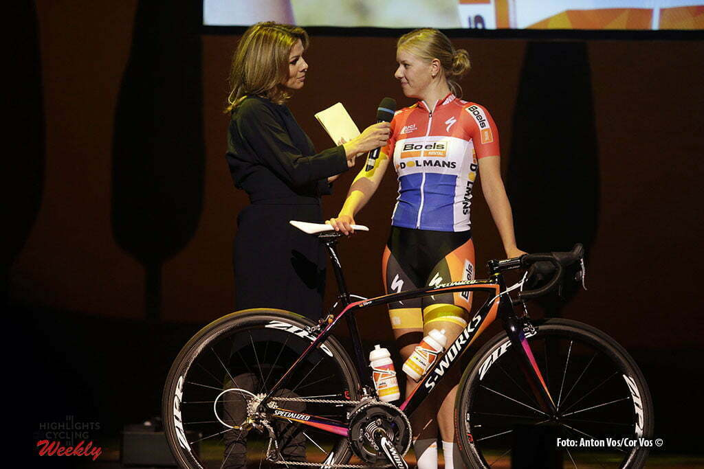 Kaatsheuvel - De Efteling - Netherlands - wielrennen - cycling - radsport - cyclisme - De Jong Demi (Netherlands / Boels Dolmans Cycling Team) pictured during team presentation Boels - Dolmans women's team - photo Anton Vos/Cor Vos © 2016