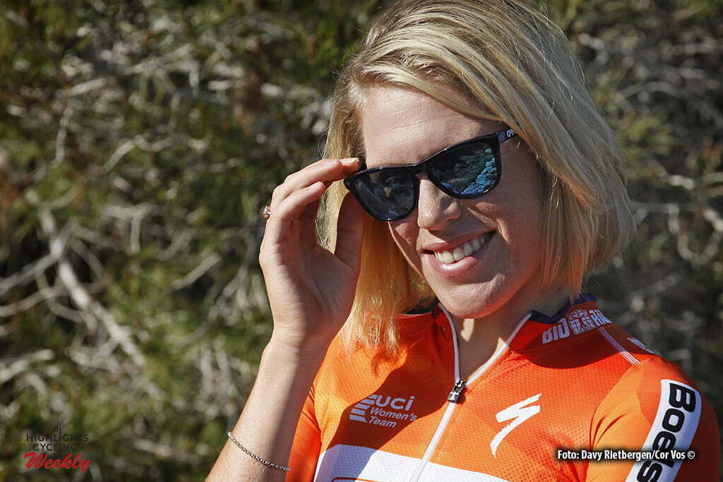 Moraira - Spain - wielrennen - cycling - radsport - cyclisme - Ellen Van Dijk (Netherlands / Boels Dolmans Cycling Team) pictured during training stage women's team Boels - Dolmans in Moraira, Spain - photo Davy Rietbergen/Cor Vos © 2016