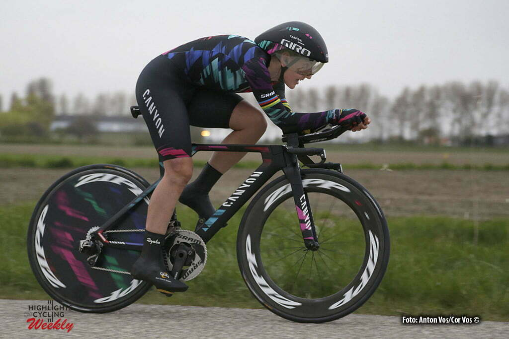 Borsele - Netherlands - wielrennen - cycling - radsport - cyclisme - Brennauer Lisa (Germany / Canyon Sram Racing) pictured during the Time Trial Individual women in Borsele - photo Anton Vos/Cor Vos © 2016