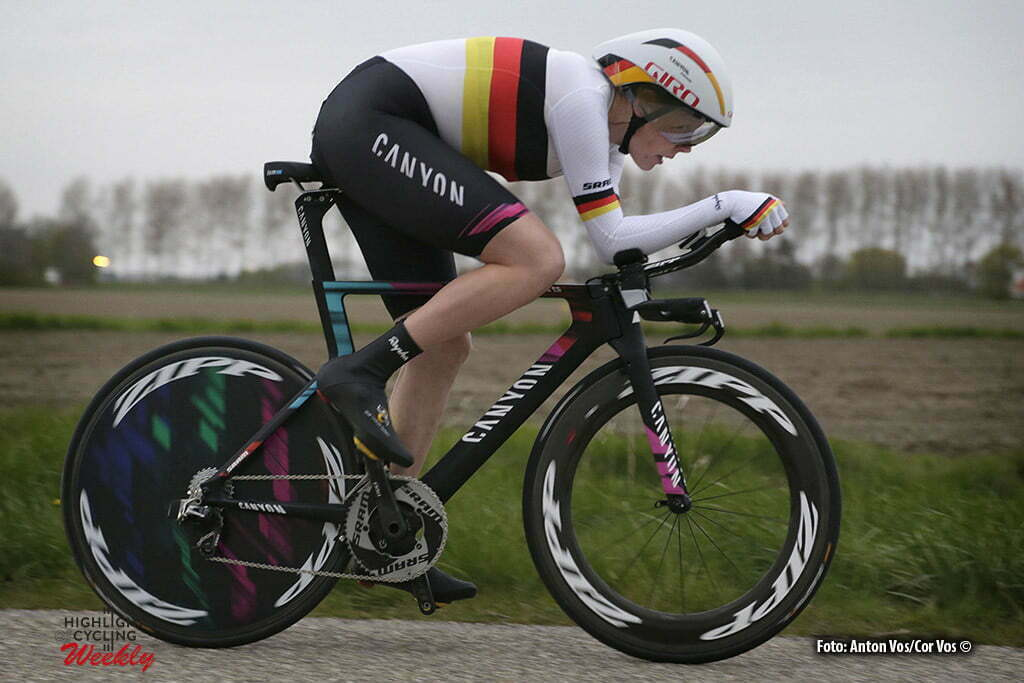 Borsele - Netherlands - wielrennen - cycling - radsport - cyclisme - Kroger Mieke (Germany / Canyon Sram Racing) pictured during the Time Trial Individual women in Borsele - photo Anton Vos/Cor Vos © 2016