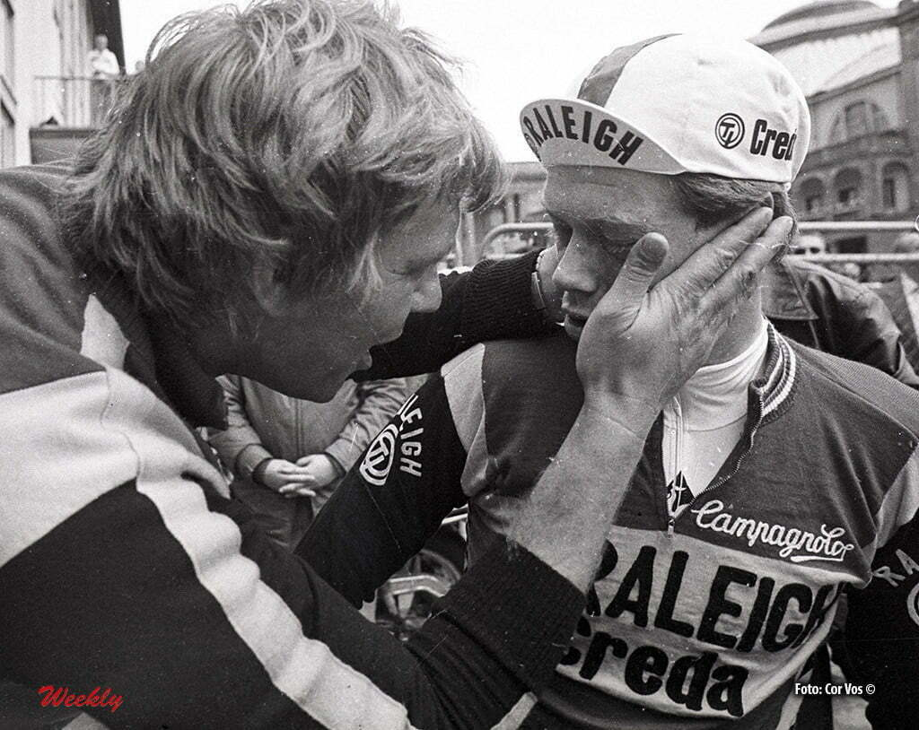 Tour de France 1980 -archief-archive-stockphoto - Ruud Bakker en Bert Oosterbosch (TI-Raliegh) - foto Cor Vos ©1980