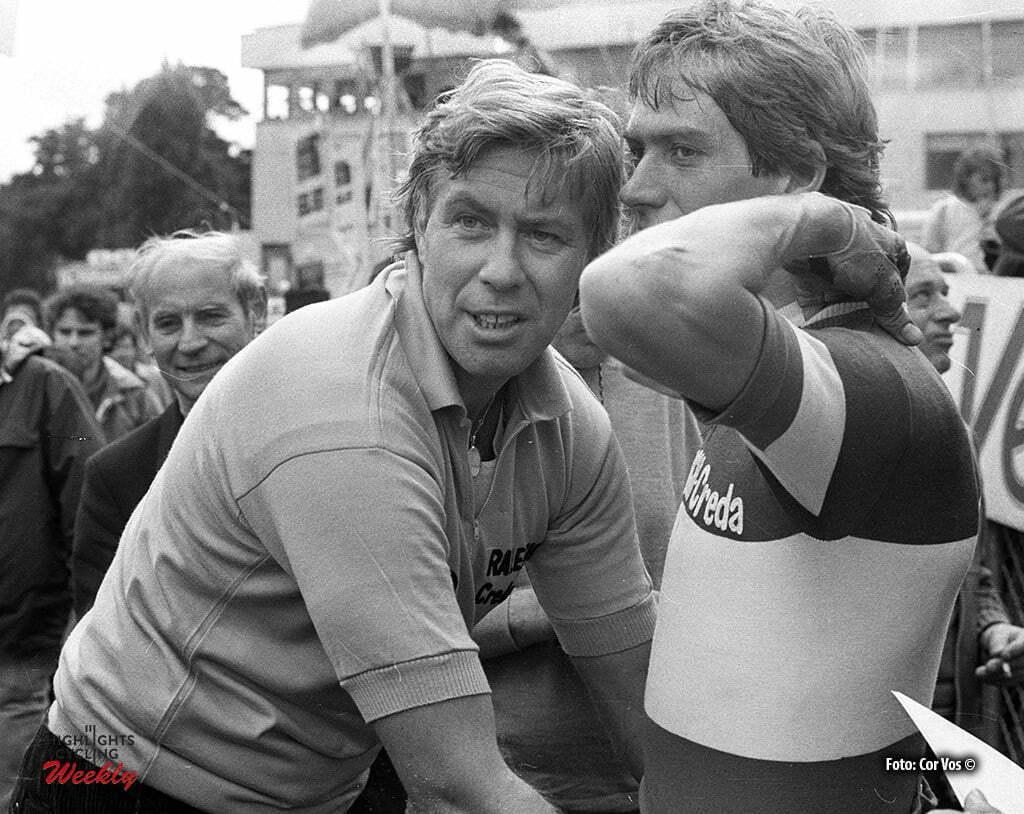 Tour de France 1980 -archief-archive-stockphoto - Ruud Bakker en Johan v.d. Velde (TI Raleigh) - foto Cor Vos ©1980