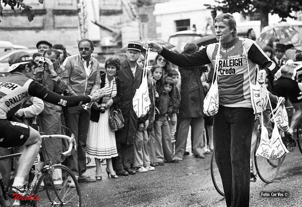Frankrijk-wielrennen-cycling-cyclisme - Archief stockfoto Tour de France 1980 - Ruud Bakker, verzorger - foto Cor Vos ©2005