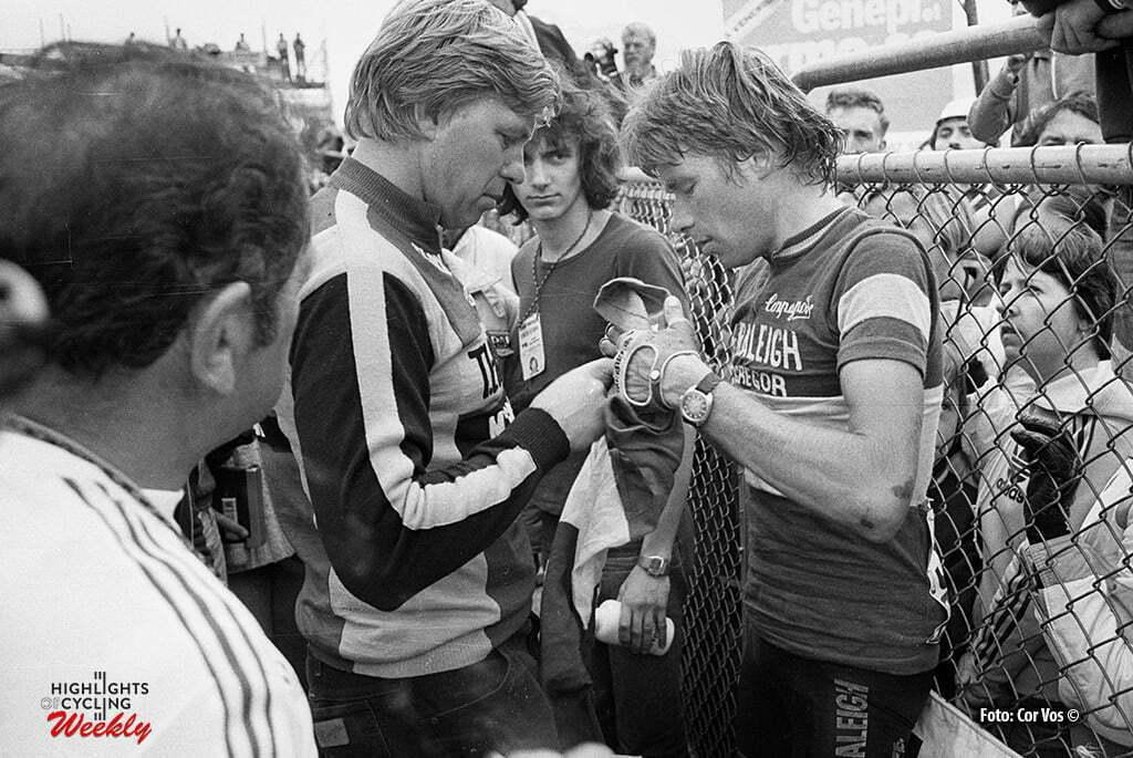 Hoogvliet - wielrennen - cycling - radsport - cyclisme - Archief Tour de France 1979 - soigneur Ruud Bakker en Henk Lubberding - foto Cor Vos ©2008