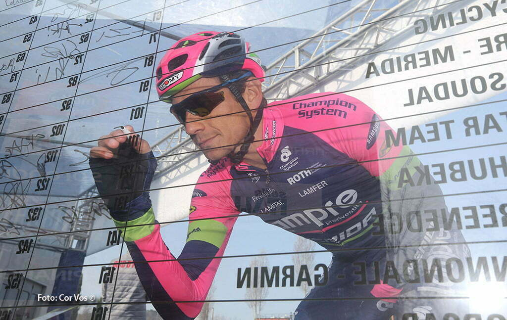 Castelraimondo - Italy - wielrennen - cycling - radsport - cyclisme - Filippo Pozzato (Lampre - Merida) pictured during Tirreno Adriatico 2015 - stage - 4 from Indicatore (Arezzo) to Castelraimondo 226 km - 14/03/2015 - photo IB/RB/Cor Vos © 2015