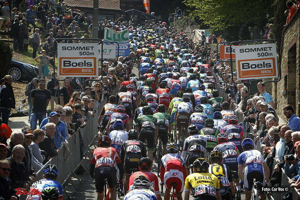 Huy - Belgium - wielrennen - cycling - radsport - cyclisme - illustration - sfeer - illustratie climb Mur de Huy pictured during la Fleche Wallone 2015 Elite - photo Dion Kerckhoffs/Cor Vos © 2015