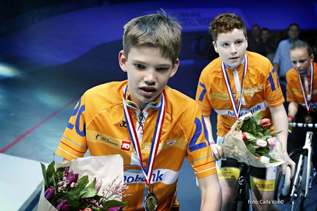 Rotterdam - wielrennen - cycling - radsport - cyclisme - podium youth pictured during the Zesdaagse Rotterdam 2016 - foto Carla Vos/Cor Vos © 2016