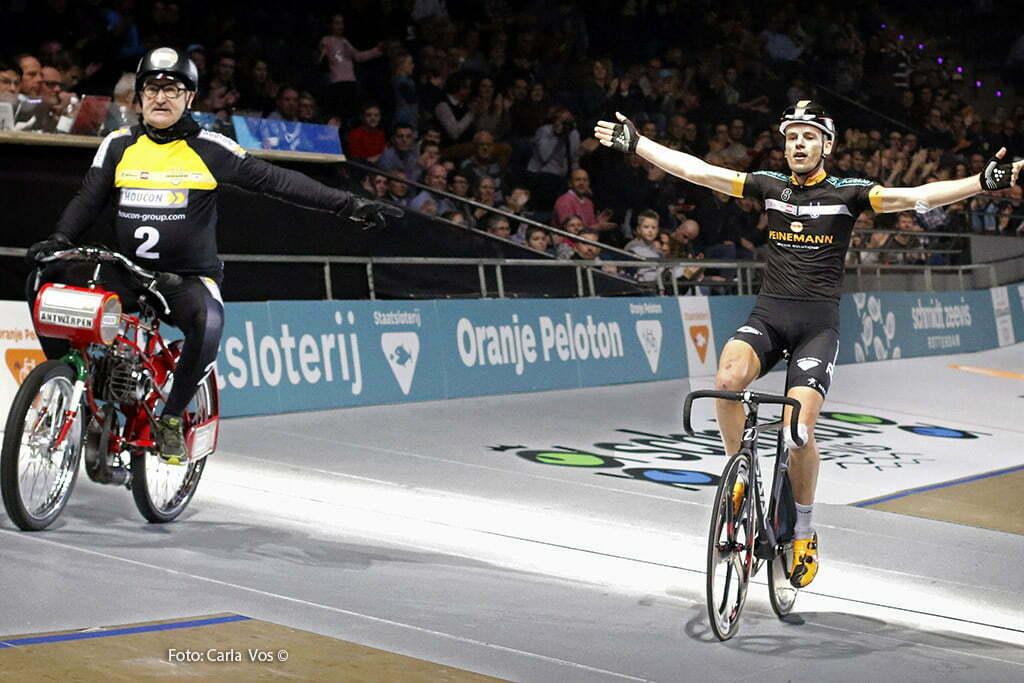 Rotterdam - wielrennen - cycling - radsport - cyclisme - derny race - Jesper Asielman - motard Walter Huybrechts pictured during the Zesdaagse Rotterdam 2016 - foto Carla Vos/Cor Vos © 2016