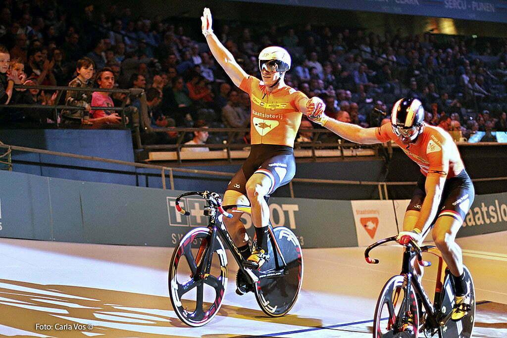 Rotterdam - wielrennen - cycling - radsport - cyclisme - sprinters - 2 Hugo Haak - 1 Jeffrey Hoogland (left) pictured during the Zesdaagse Rotterdam 2016 - foto Carla Vos/Cor Vos © 2016