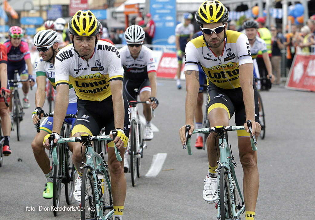 Victor Harbor - Australia - wielrennen - cycling - radsport - cyclisme - Bertjan Lindeman (Netherlands / Team Lotto Nl - Jumbo) - Martijn Keizer (Netherlands / Team Lotto Nl - Jumbo) pictured during Santos Tour Down Under 2016 stage 4 138 KM from Norwood to Victor Harbor - Australia - photo Dion Kerckhoffs/Cor Vos © 2016