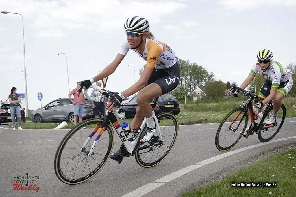 Aalburg - Netherlands - wielrennen - cycling - radsport - cyclisme - Tenniglo Moniek (Netherlands / Rabobank Liv Women Cycling Team) pictured during the Rabobank 7-Dorpenomloop 2016 in Wijk en Aalburg - photo Anton Vos/Cor Vos © 2016