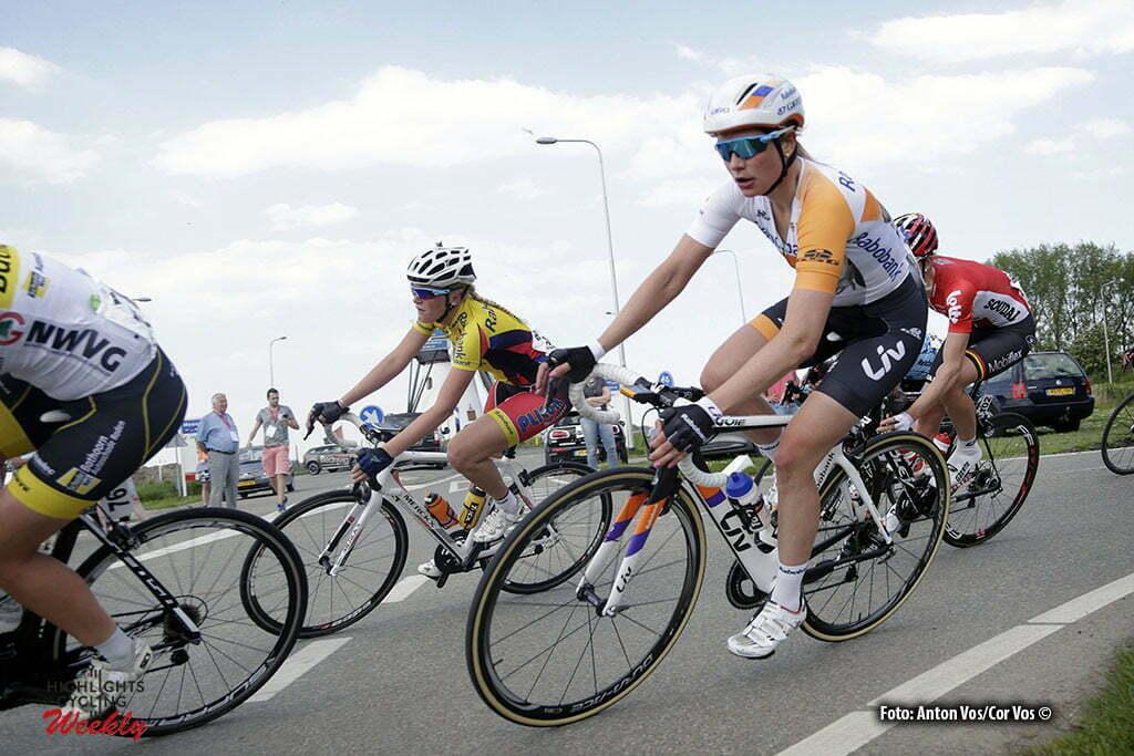 Aalburg - Netherlands - wielrennen - cycling - radsport - cyclisme - Knetemann Roxane (Netherlands / Rabobank Liv Women Cycling Team) pictured during the Rabobank 7-Dorpenomloop 2016 in Wijk en Aalburg - photo Anton Vos/Cor Vos © 2016