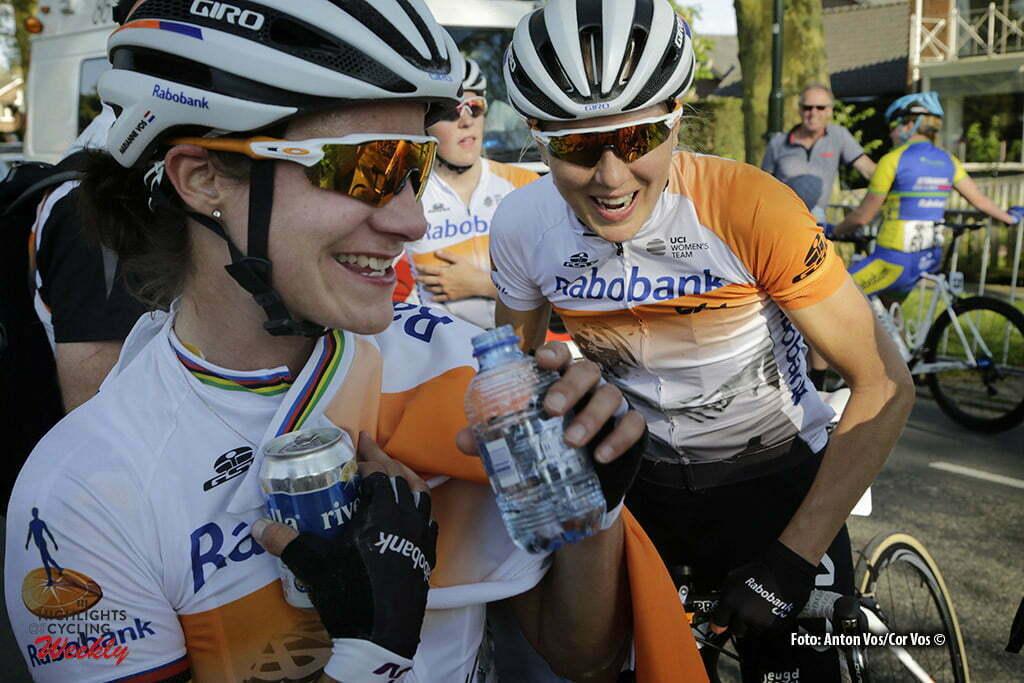 Aalburg - Netherlands - wielrennen - cycling - radsport - cyclisme - Vos Marianne (Netherlands / Rabobank Liv Women Cycling Team) - Gillow Shara (Australia / Rabobank Liv Women Cycling Team) pictured during the Rabobank 7-Dorpenomloop 2016 in Wijk en Aalburg - photo Anton Vos/Cor Vos © 2016