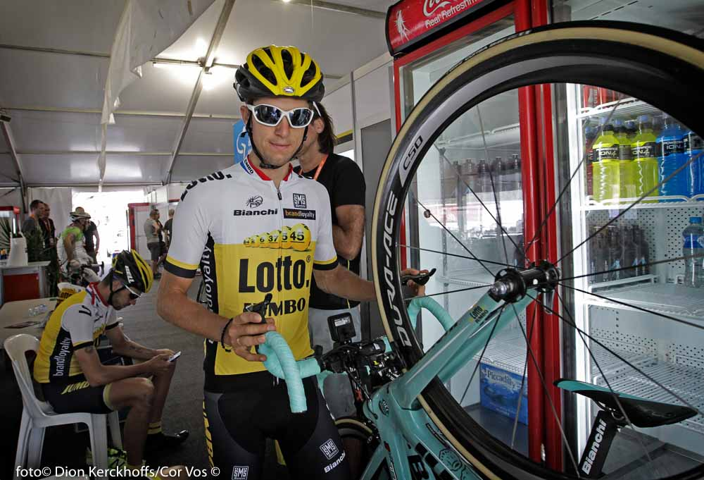 Adelaide - Australia - wielrennen - cycling - radsport - cyclisme - George Bennett (N. Seeland / Team Lotto Nl - Jumbo) pictured during the day's before the start of the Santos Tour Down Under 2016 - photo Dion Kerckhoffs/Cor Vos © 2016