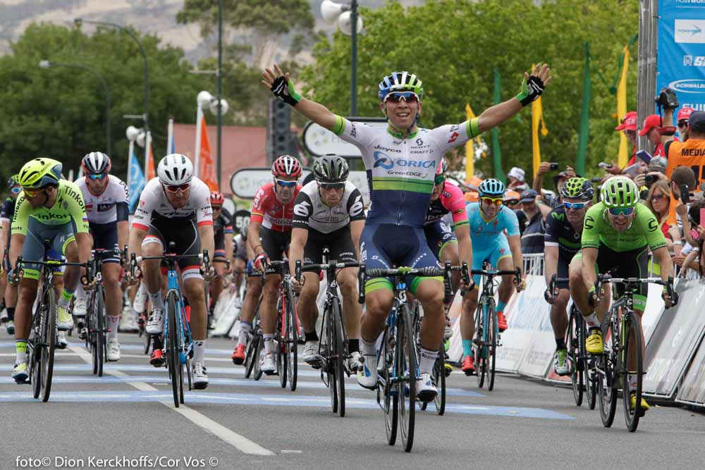 Lyndoch - Australia - wielrennen - cycling - radsport - cyclisme - Caleb Ewan (Australia / Team Orica Greenedge) - Wouter Wippert (Netherlands / Cannondale Pro Cycling Team)pictured during Santos Tour Down Under 2016 stage 1 130.8 KM from Prospect to Lyndoch - Australia - photo Dion Kerckhoffs/Cor Vos © 2016