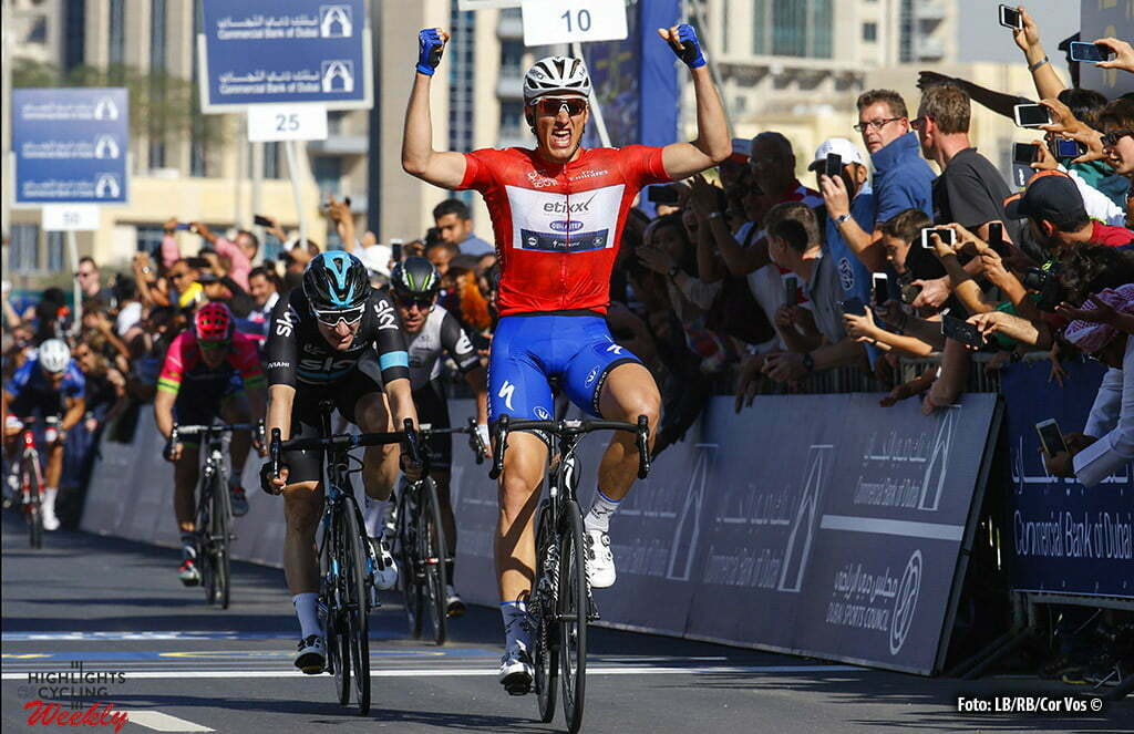 Fujai Dubai rah - Emirates - wielrennen - cycling - radsport - cyclisme - Marcel Kittel (Germany / Team Etixx - Quick Step) - Elia Viviani (Italie / Team Sky) pictured during Dubai Tour 2016 - stage 4 from Business Bay Stage Dubai to Dubai 137 Km - 06/02/2016 - photo LB/RB/Cor Vos © 2016