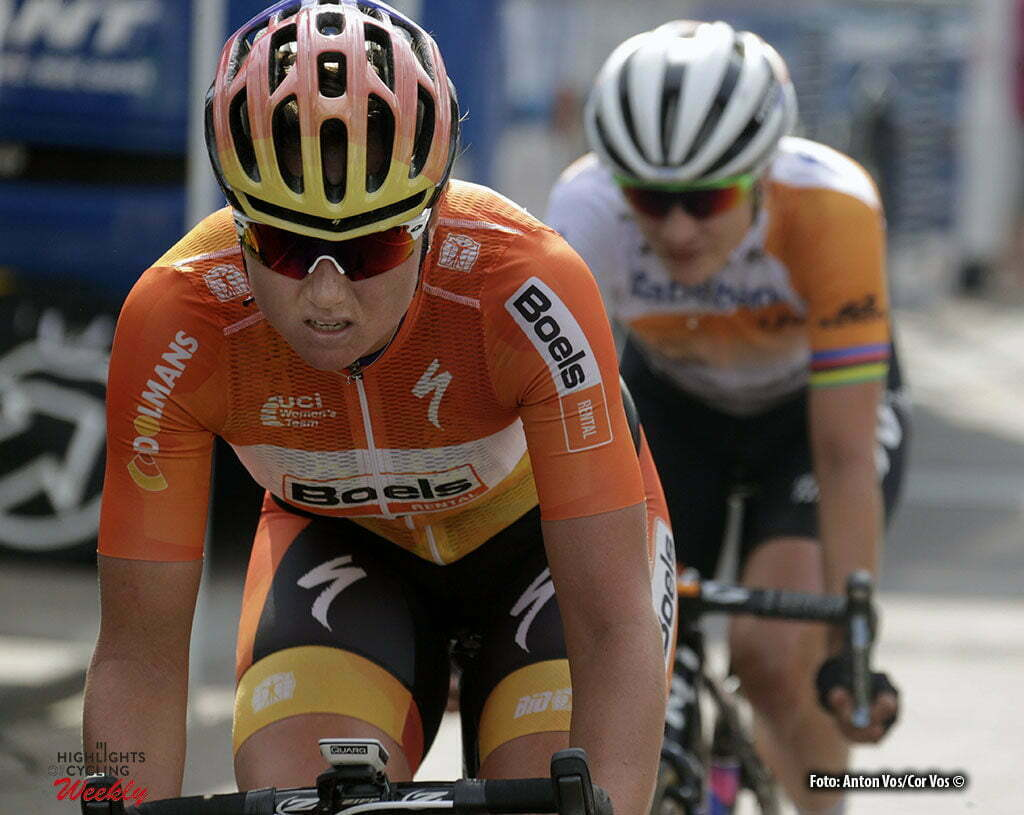 Etten-Leur - Netherlands - wielrennen - cycling - radsport - cyclisme - Blaak Chantal (Netherlands / Boels Dolmans Cycling Team) Vos Marianne (Netherlands / Rabobank Liv Women Cycling Team) pictured during of the women's edition of the criterium of Etten-Leur in the Netherlands - photo Anton Vos/Cor Vos © 2016