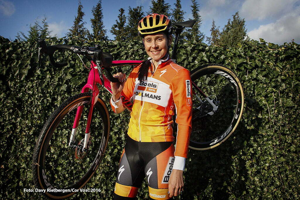 Aarschot - Belgium - wielrennen - cycling - radsport - cyclisme - Niki Harris (Boels - Dolmans) pictured during photoshoot in Aarschot, Belgium - photo Davy Rietbergen/Cor Vos © 2016