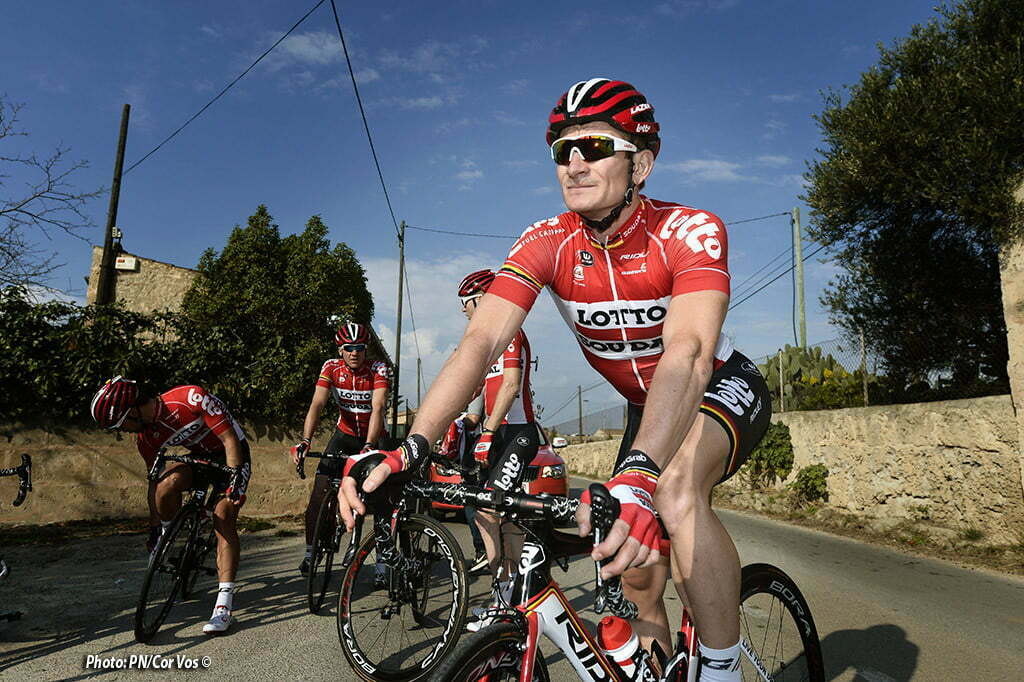 Palma de Mallorca - Spain - wielrennen - cycling - radsport - cyclisme - illustration - sfeer - Team Lotto - Soudal 2016 Andre Greipel photoshoot during the team training winter session of the Lotto - Soudal cycling team 2016 in Palma de Mallorca, Spain - photo NV/PN/Cor Vos © 2015
