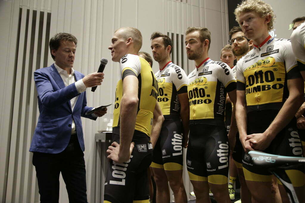 's Hertogenbosch - Netherlands - wielrennen - cycling - radsport - cyclisme - Robert Gesink (Team LottoNL - Jumbo) pictured during team presentation Team LottoNL - Jumbo - photo Davy Rietbergen/Cor Vos © 2015