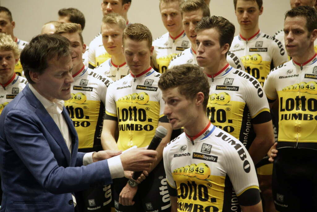 's Hertogenbosch - Netherlands - wielrennen - cycling - radsport - cyclisme - Enrico Battaglin pictured during team presentation Team LottoNL - Jumbo - photo Davy Rietbergen/Cor Vos © 2015
