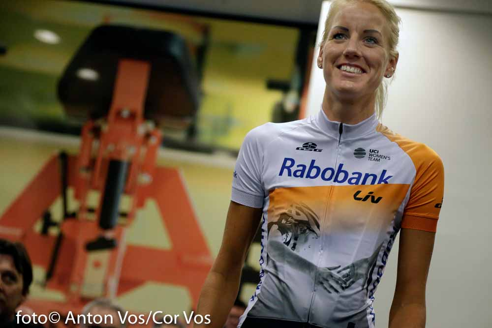 Papendal - Netherlands - wielrennen - cycling - radsport - cyclisme - Moniek Tenniglo of Rabobank Liv Women Cycling Team pictured during team presentation Rabobank LIV women team in Papendal - photo Anton Vos/Cor Vos © 2016