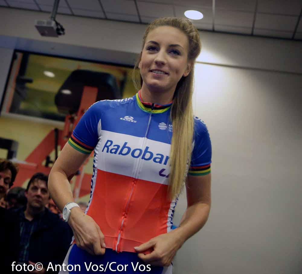 Papendal - Netherlands - wielrennen - cycling - radsport - cyclisme - Pauline Ferrand Prevot of Rabobank Liv Women Cycling Team pictured during team presentation Rabobank LIV women team in Papendal - photo Anton Vos/Cor Vos © 2016