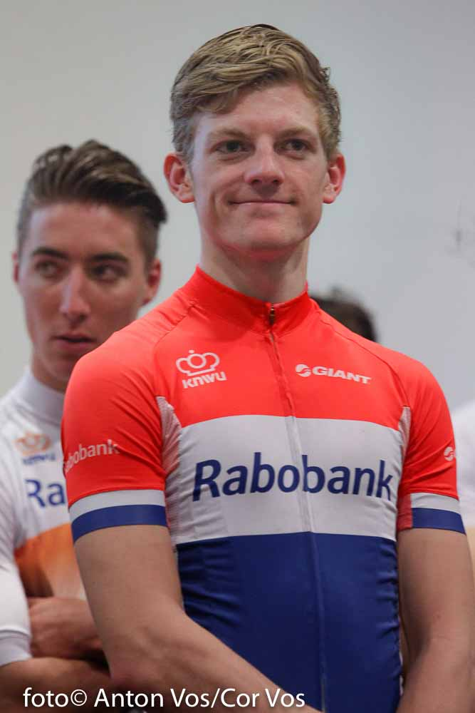 Papendal - Netherlands - wielrennen - cycling - radsport - cyclisme - Wouters Sieben of Rabobank Development Team pictured during team presentation Rabobank Development Team in Papendal - photo Anton Vos/Cor Vos © 2016