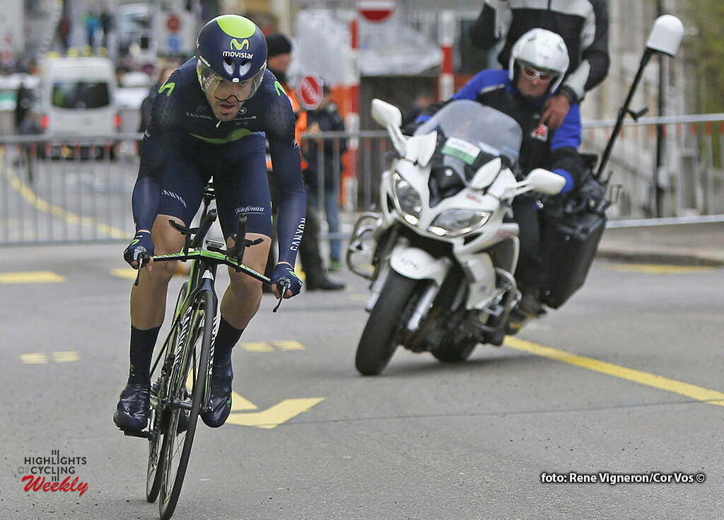 La Chaux-de-Fonds - Suisse - wielrennen - cycling - radsport - cyclisme - Izaguirre Insausti Jon (Spain / Team Movistar) pictured during the Tour of Romandie - prologue - ITT from La Chaux-de-Fonds to La Chaux-de-Fonds - photo Rene Vigneron/Cor Vos © 2016