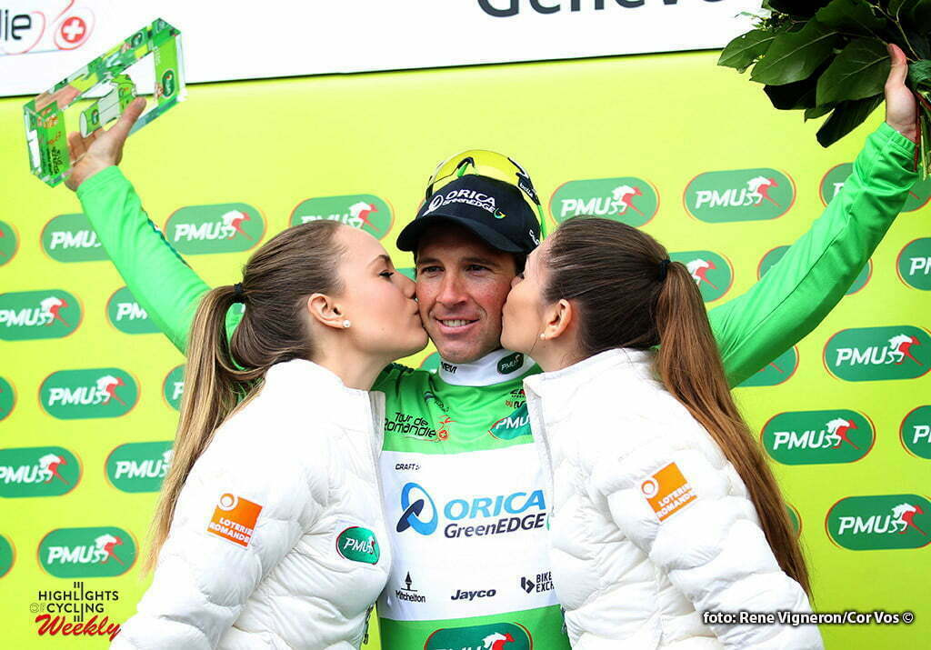 Geneve - Suisse - wielrennen - cycling - radsport - cyclisme - Albasini Michael (Suisse / Team Orica Greenedge) pictured during the Tour of Romandie - stage 5 from Ollon to Geneve - photo Rene Vigneron/Cor Vos © 2016