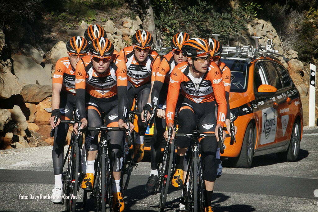 Calpe - Spain - wielrennen - cycling - radsport - cyclisme - Jesper Asselman - Johnny Hoogerland pictured during trainingsstage Team Roompot-Oranjepeloton in Calpe, Spain - photo Davy Rietbergen/Cor Vos © 2015