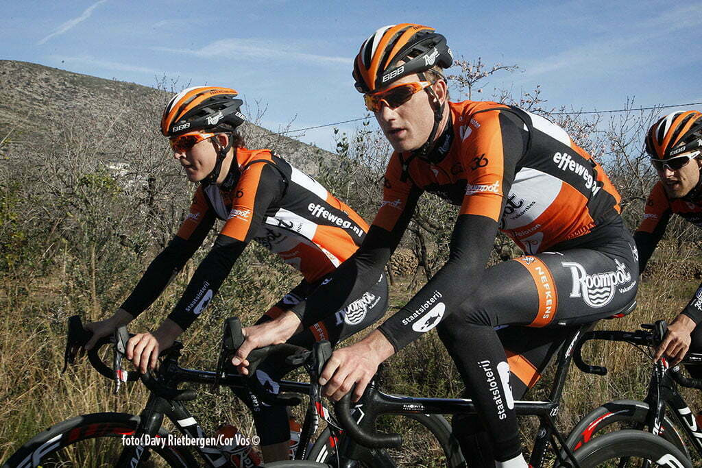 Calpe - Spain - wielrennen - cycling - radsport - cyclisme - Etienne van Empel and Pieter Weening pictured during trainingsstage Team Roompot-Oranjepeloton in Calpe, Spain - photo Davy Rietbergen/Cor Vos © 2015