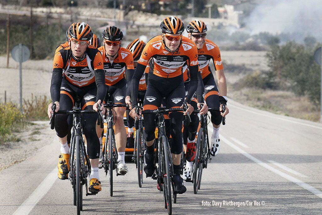 Calpe - Spain - wielrennen - cycling - radsport - cyclisme - HuubDuijn - Sjoerd van Ginneken pictured during trainingsstage Team Roompot-Oranjepeloton in Calpe, Spain - photo Davy Rietbergen/Cor Vos © 2015