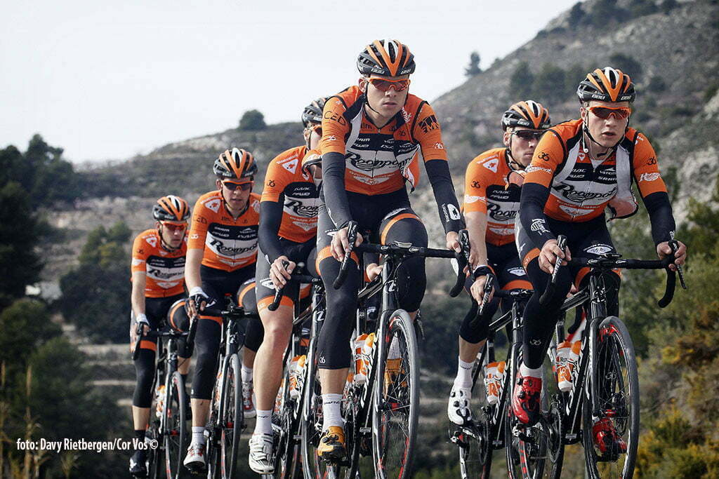 Calpe - Spain - wielrennen - cycling - radsport - cyclisme - Ivar Slik - Andre Looij pictured during trainingsstage Team Roompot-Oranjepeloton in Calpe, Spain - photo Davy Rietbergen/Cor Vos © 2015