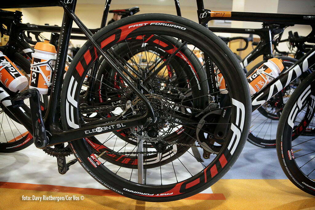 Calpe - Spain - wielrennen - cycling - radsport - cyclisme - illustration - sfeer - illustratieFFW wheels pictured during trainingsstage Team Roompot-Oranjepeloton in Calpe, Spain - photo Davy Rietbergen/Cor Vos © 2015