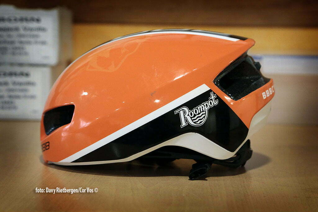 Calpe - Spain - wielrennen - cycling - radsport - cyclisme - BBB helmet pictured during trainingsstage Team Roompot-Oranjepeloton in Calpe, Spain - photo Davy Rietbergen/Cor Vos © 2015