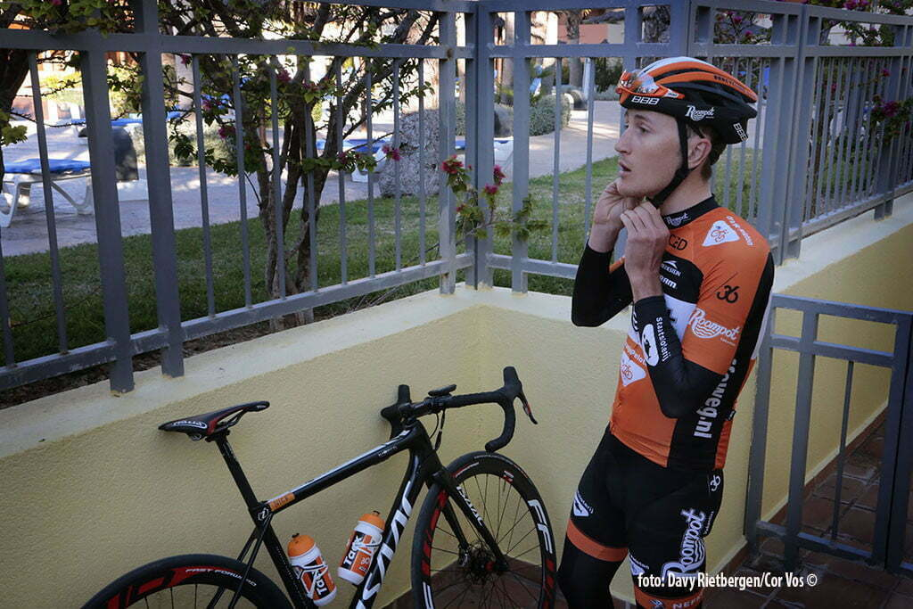 Calpe - Spain - wielrennen - cycling - radsport - cyclisme - Nick van der Lijke pictured during trainingsstage Team Roompot-Oranjepeloton in Calpe, Spain - photo Davy Rietbergen/Cor Vos © 2015