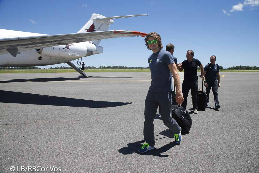 San Luis - Argentina - wielrennen - cycling - radsport - cyclisme - arrival of the riders on the airport of San Luis, Argentina - Tour San Luis 2016 - Peter Sagan (Tinkoff) - photo IB/RB/Cor Vos © 2016