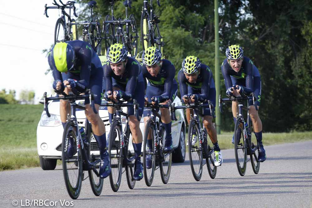 El Durazno - Argentina - wielrennen - cycling - radsport - cyclisme - Team Movistar pictured during Tour San Luis 2016 stage 1 - 22 KM TTT - Team Time Trial from El Durazno - El Durazno - Argentina - photo LB/RB/Cor Vos © 2016