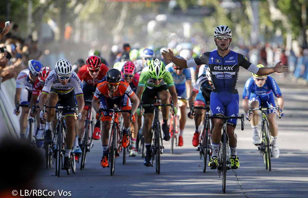 Villa Mercedes - Argentina - wielrennen - cycling - radsport - cyclisme - Fernando Gaviria (Etixx - Quick Step) - Peter Sagan (Slowakia / Team Tinkoff - Tinkov) - Elia Viviani (Italie / Team Sky) pictured during Tour San Luis 2016 stage 2 - 22 KM TTT - from San Luis to Villa Mercedes - Argentina - photo LB/RB/Cor Vos © 2016
