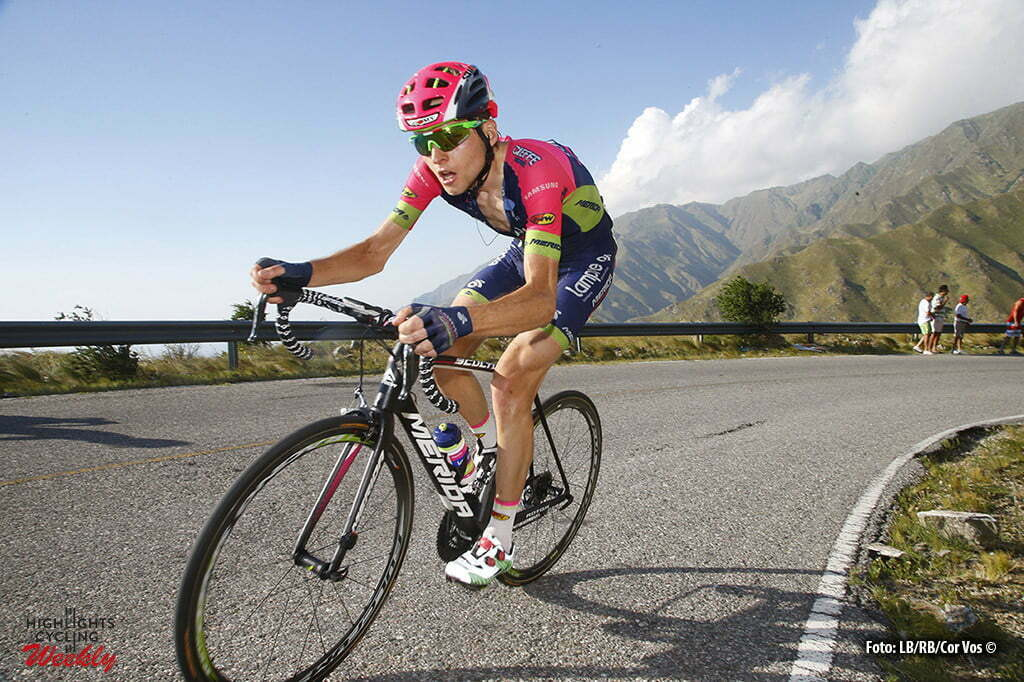 Filo de la Sierra de Comechingones - Argentina - wielrennen - cycling - radsport - cyclisme - Ilia Koshevoy (Lampre - Merida) pictured during Tour San Luis 2016 stage 6 - 159.9 KM - From La Toma to Filo de la Sierra de Comechingones - Argentina - photo LB/RB/Cor Vos © 2016
