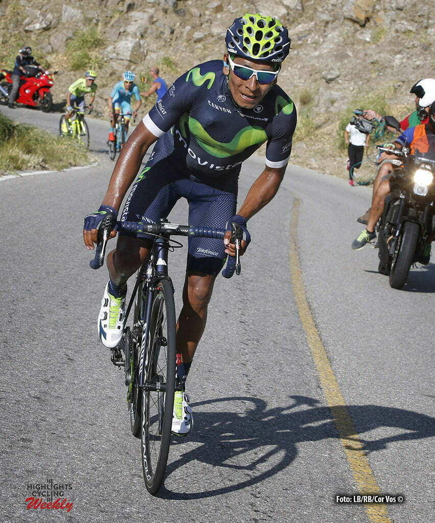 Filo de la Sierra de Comechingones - Argentina - wielrennen - cycling - radsport - cyclisme - Nairo Quintana (Movistar) pictured during Tour San Luis 2016 stage 6 - 159.9 KM - From La Toma to Filo de la Sierra de Comechingones - Argentina - photo LB/RB/Cor Vos © 2016
