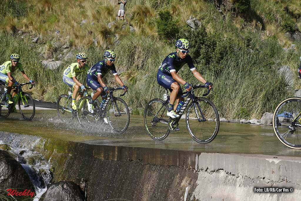 Filo de la Sierra de Comechingones - Argentina - wielrennen - cycling - radsport - cyclisme - Dayer Quintana (Movistar) - Nairo Quintana (Movistar) pictured during Tour San Luis 2016 stage 6 - 159.9 KM - From La Toma to Filo de la Sierra de Comechingones - Argentina - photo LB/RB/Cor Vos © 2016