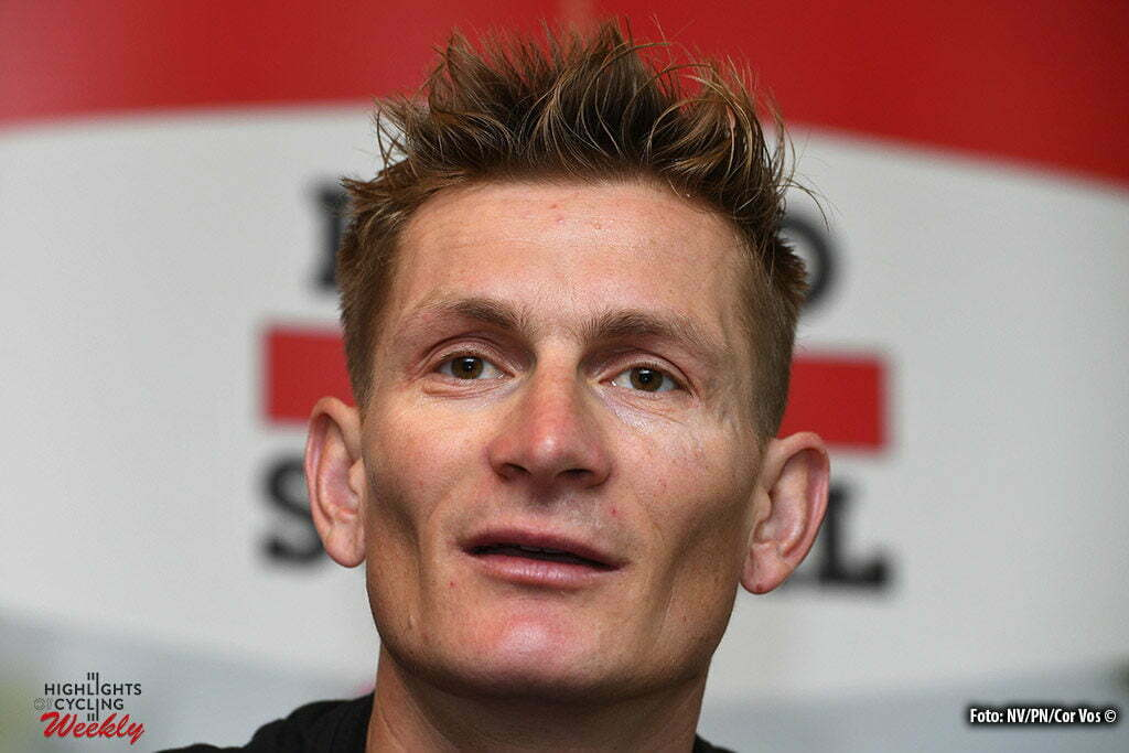 Utah Beach - France - wielrennen - cycling - radsport - cyclisme - Andre Greipel (Germany / Team Lotto Soudal) talking to the press during an interview prior the 2016 Tour de France, on June 30, 2016 in Utah Beach, France - photo NV/PN/Cor Vos © 2016