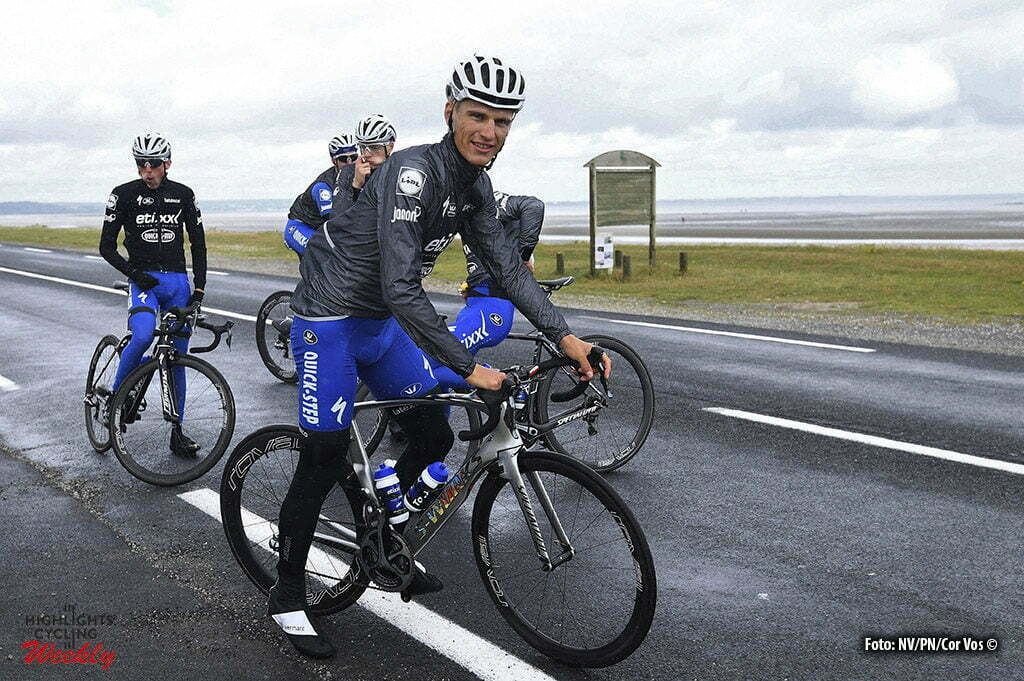 Saint-Lo - France - wielrennen - cycling - radsport - cyclisme - Marcel Kittel (Germany / Team Etixx - Quick Step) - Tony Martin (Germany / Team Etixx - Quick Step) during a team reconnaissance of the stage 1 of the 2016 Tour de France a 188 km stage between Mont-Saint-Michel and Utah Beach Sainte-Marie-Du-Mont, on June 30, 2016 in Saint-Lo, France - photo NV/PN/Cor Vos © 2016